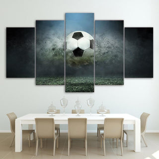 5 Piece Superb Soccer Canvas Paintings - It Make Your Day