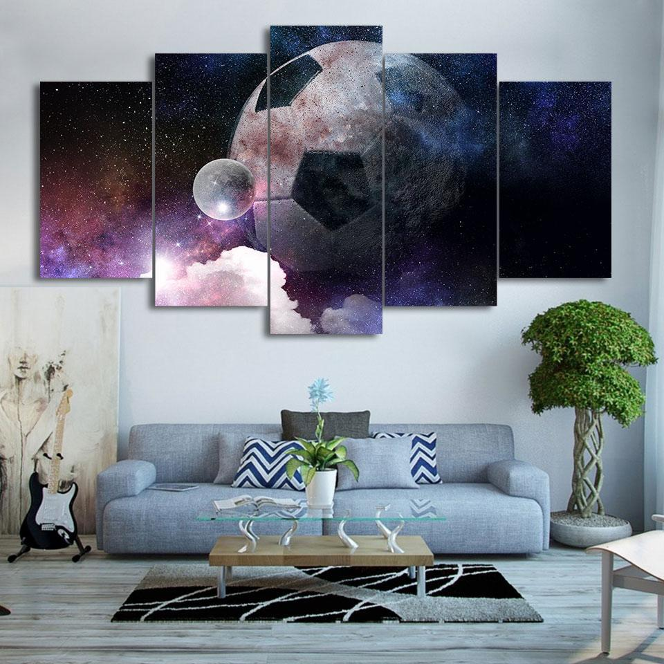 5 Piece Tremendous Soccer Canvas Paintings - It Make Your Day