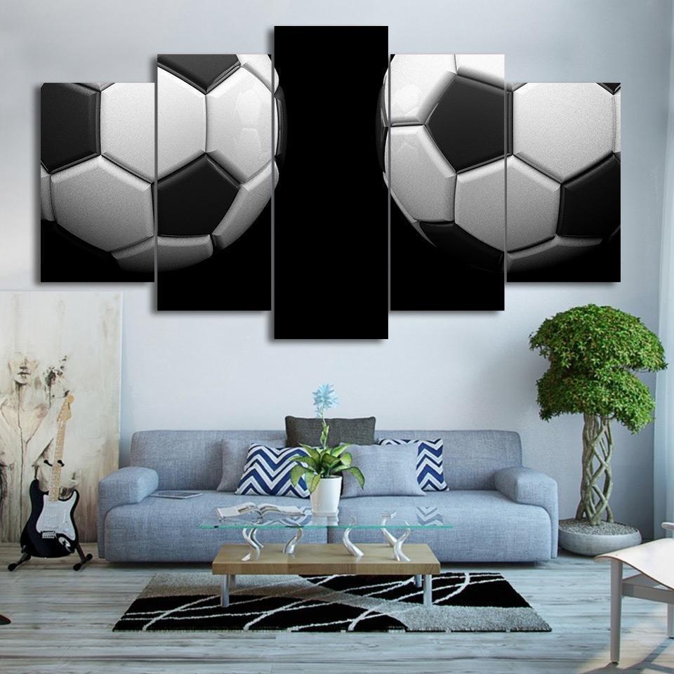 5 Piece Twin Soccer Canvas Paintings - It Make Your Day