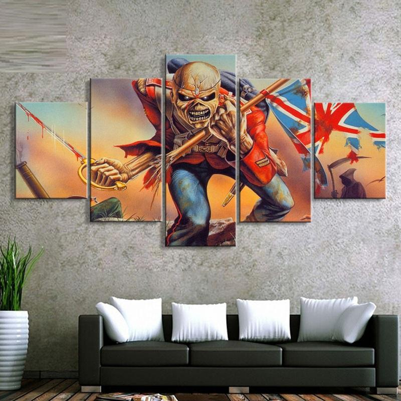 5 Piece Iron Maiden Band Canvas Wall Art Paintings - It Make Your Day