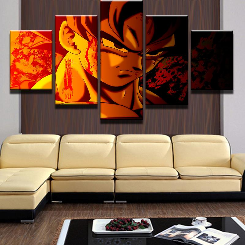 Framed 5 Piece Dragon Balls Movie Canvas Wall Art Paintings - It Make Your Day