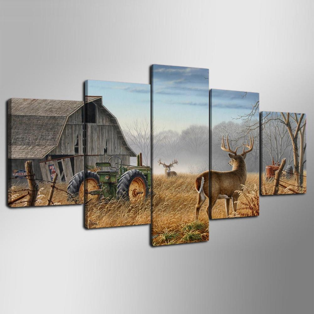 5 Pieces Whitetail Deer Canvas Prints - It Make Your Day