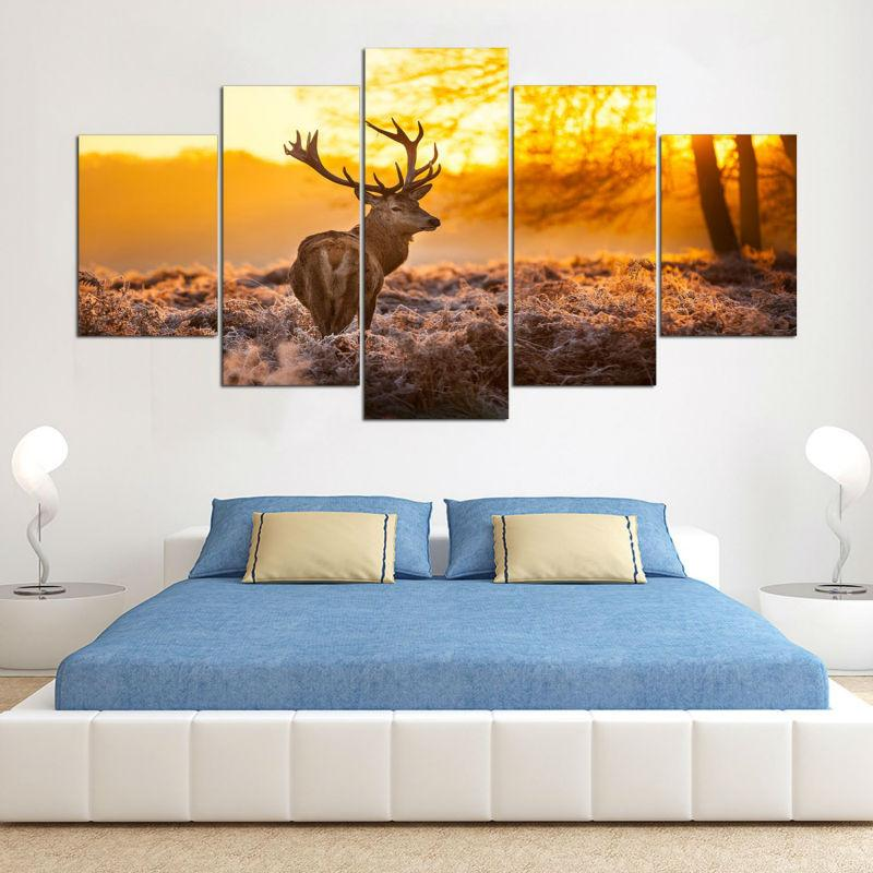 5 Pieces HD Printed Deer Canvas - It Make Your Day