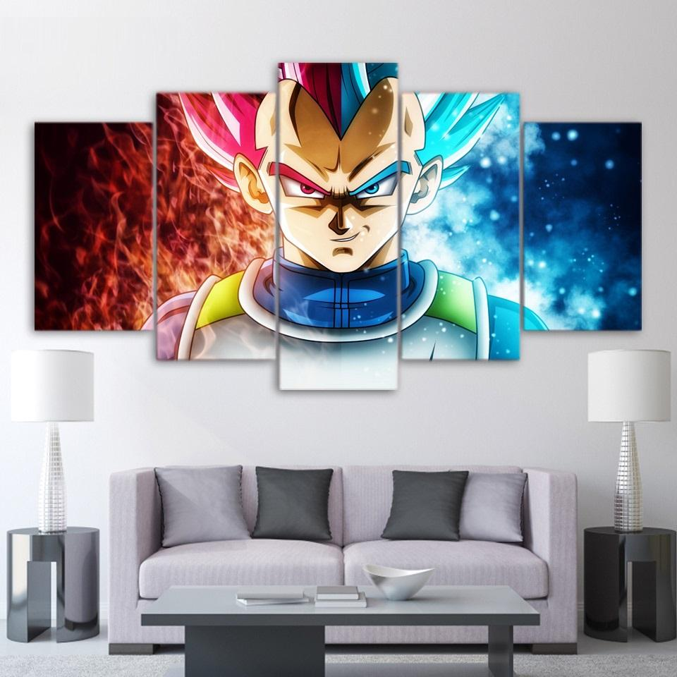 framed 5 piece dragon ball super anime canvas wall art paintings sale it make your day. Black Bedroom Furniture Sets. Home Design Ideas