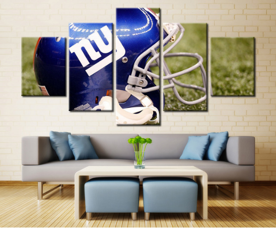 5 Piece New York Giants Helmet Canvas Paintings - It Make Your Day