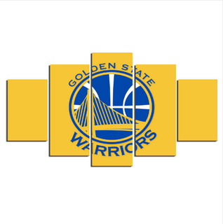 5 Piece Golden State Warriors Wall Art Canvas Paintings - It Make Your Day