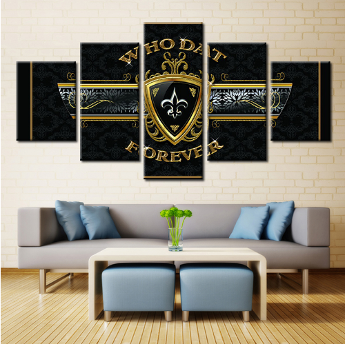 5 Panel New Orleans Saints HD Printed Canvas Paintings - It Make Your Day