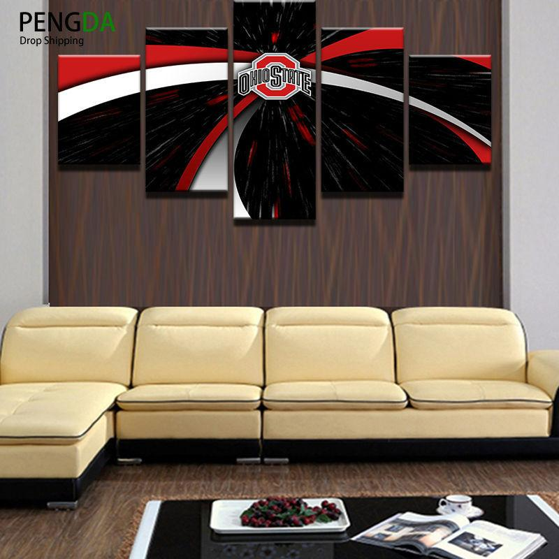 5 Panel Ohio State Buckeyes Sports Posters Canvas Paintings - It Make Your Day