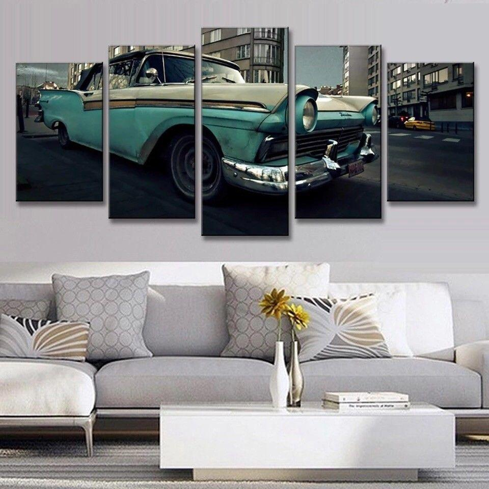 5 Pieces Hot Rod Car Wall Art Canvas - It Make Your Day