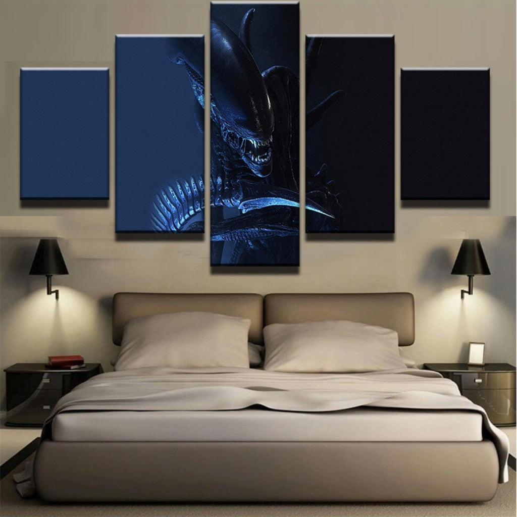 Framed 5 Piece Alien-Xenomorph Movie Canvas Wall Art Paintings - It Make Your Day