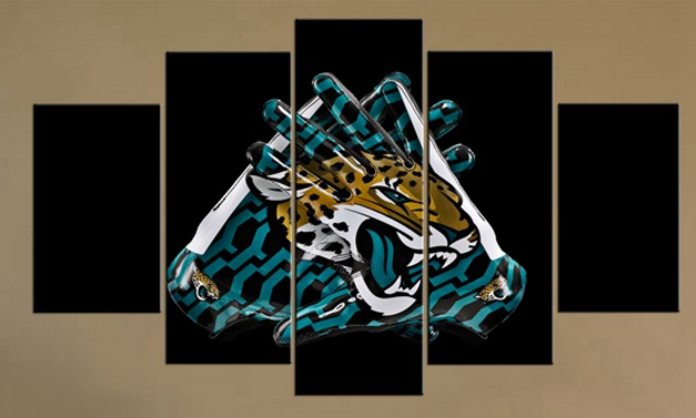 5 Piece Jacksonville Jaguars Gloves Canvas Paintings - It Make Your Day