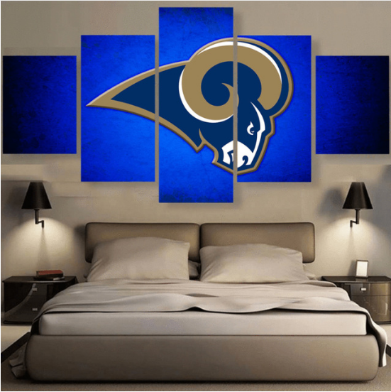 5 Piece Los Angeles Rams Prints Canvas Paintings - It Make Your Day