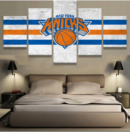 5 Piece New York Knicks Canvas Paintings - It Make Your Day