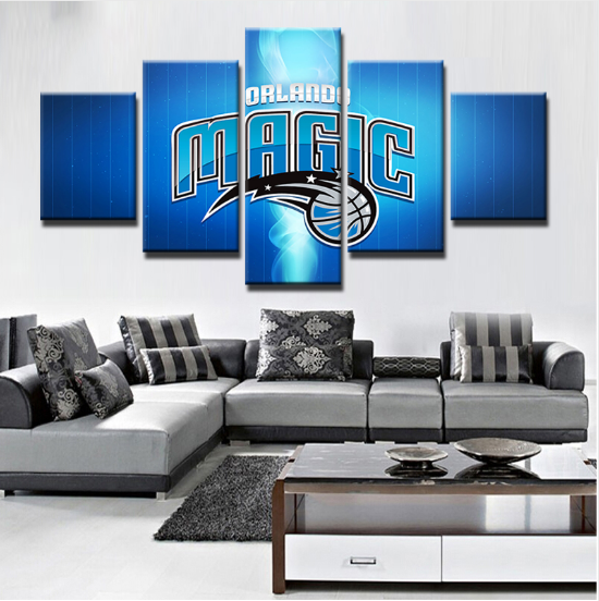 5 Piece Orlando Magic Sports Boys Canvas Paintings - It Make Your Day