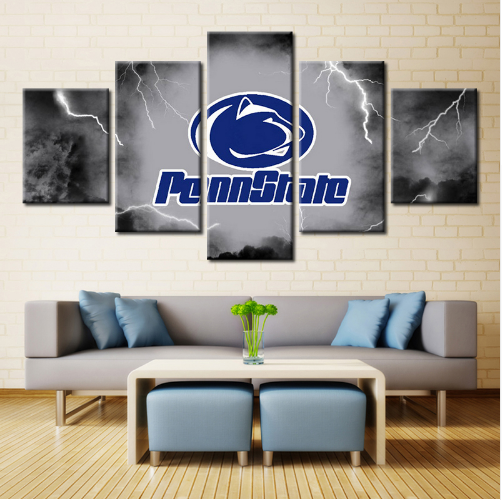 5 Pieces Penn State Nittany Lions Canvas Prints - It Make Your Day
