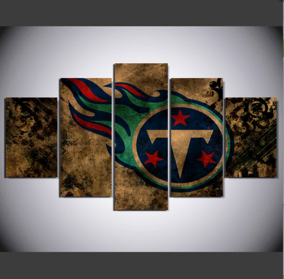 5 Piece Tennessee Titans Wall Art Canvas Paintings - It Make Your Day