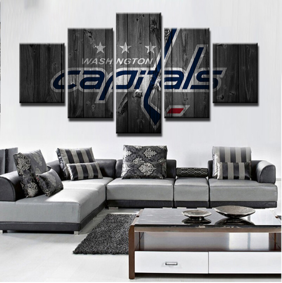5 Piece Washington Capitals 7 Hockey Canvas Paintings - It Make Your Day