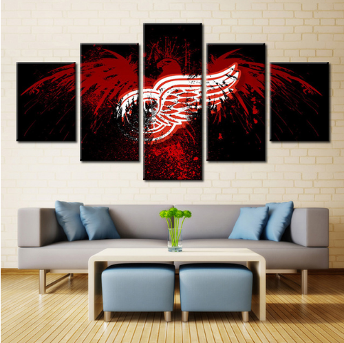 5 Piece Detroit Red Wings 6 Hockey Canvas - It Make Your Day