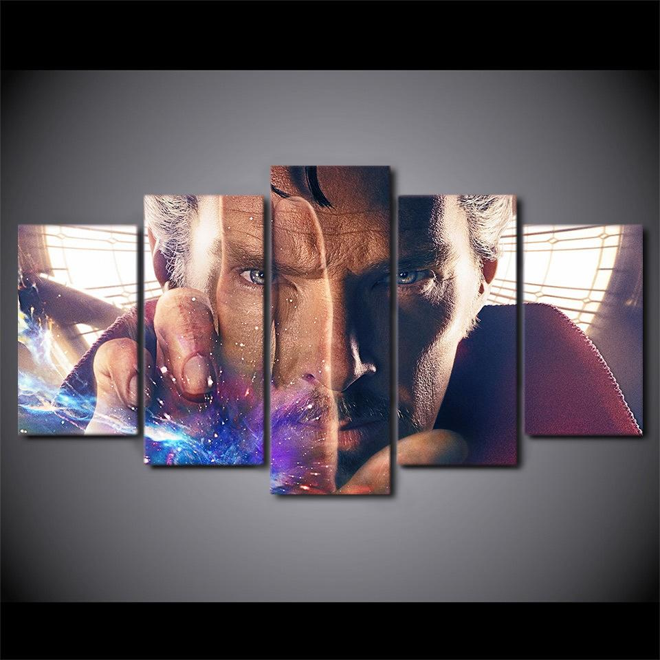 5 Piece Doctor Strange Movie Canvas Wall Art Paintings - It Make Your Day