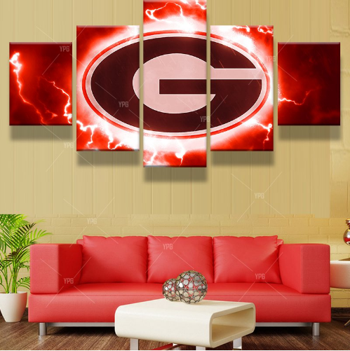5 Piece Georgia Bulldogs Football Team HD Printed Canvas - It Make Your Day