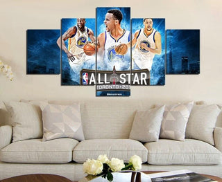 5 Piece Golden State Warriors All Stars Picture Canvas Paintings - It Make Your Day