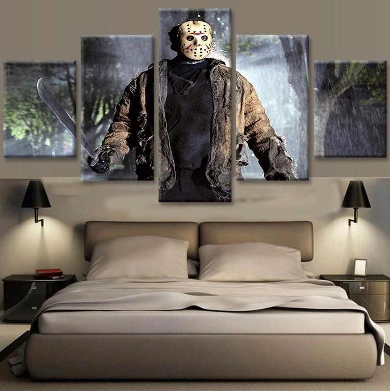 5 Piece Friday The 13th Movies Canvas Paintings - It Make Your Day