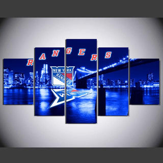 5 Piece New York Rangers 7 Hockey Canvas - It Make Your Day