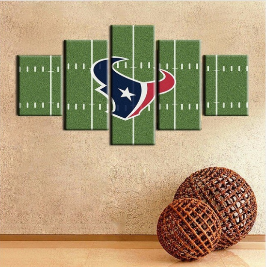 5 Piece Houston Texans Stadium Wall Art Canvas Paintings - It Make Your Day