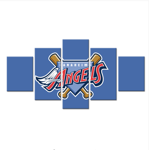 5 Piece Los Angeles Angels Of Anaheim Canvas Paintings - It Make Your Day