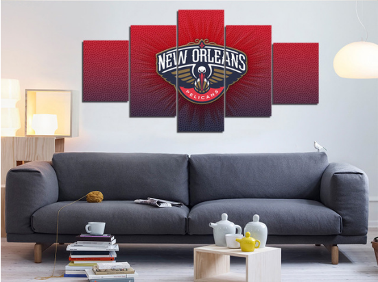 5 Piece New Orleans Pelicans Basketball Canvas Paintings - It Make Your Day
