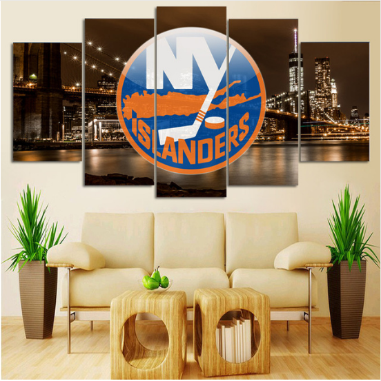 5 Piece New York Islanders 1 Hockey Canvas - It Make Your Day