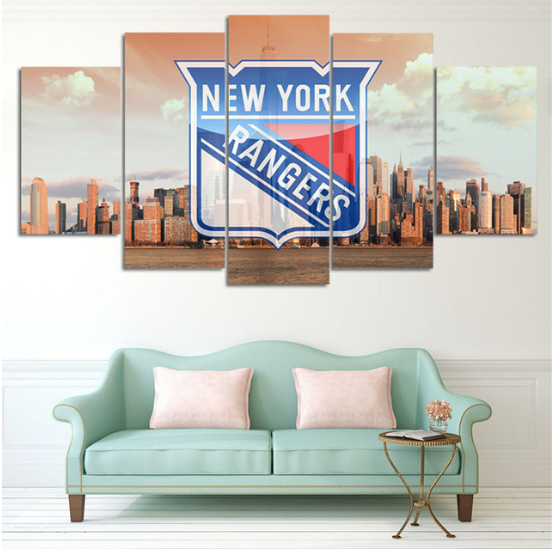5 Piece New York Rangers 4 Hockey Canvas - It Make Your Day