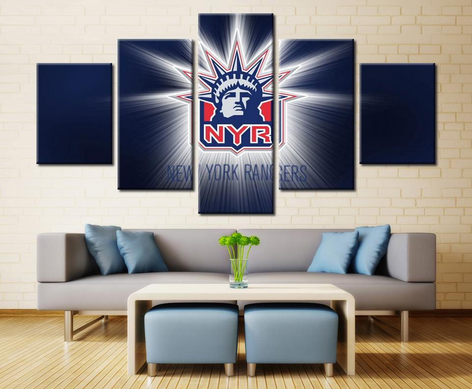 5 Piece New York Rangers 2 Hockey Canvas - It Make Your Day