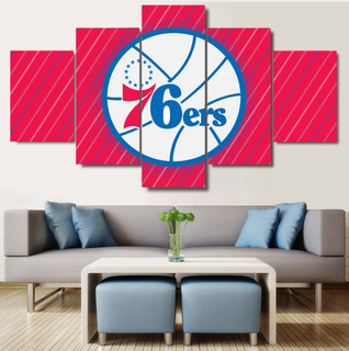 5 Piece Philadelphia 76ers Prints Canvas Paintings - It Make Your Day