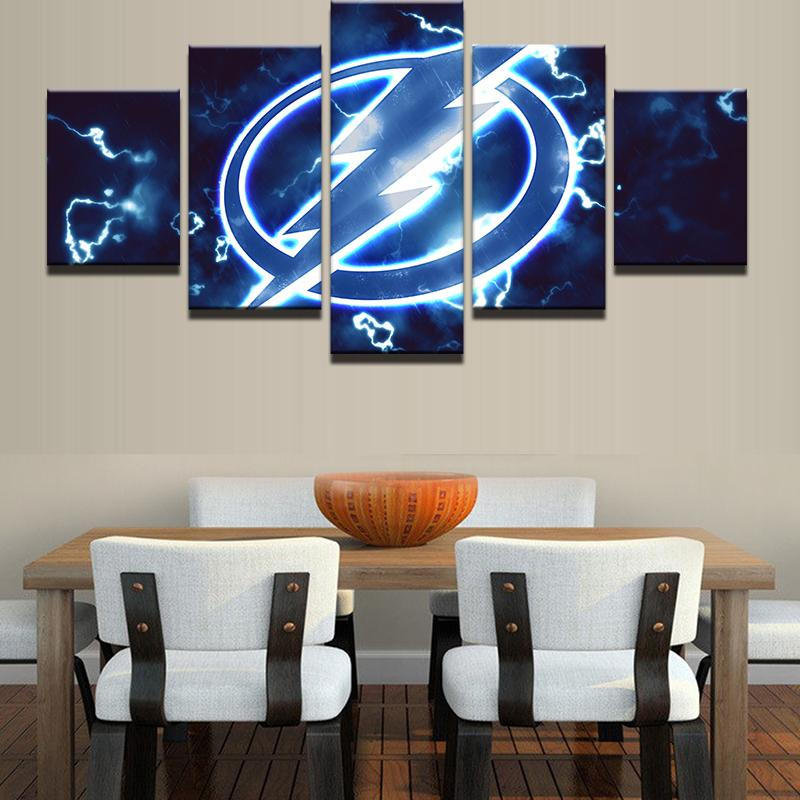 5 Piece Tampa Bay Lightning Ice Hockey Canvas - It Make Your Day