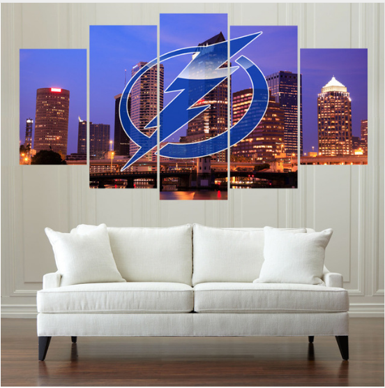 5 Piece Tampa Bay Lightning Sport Ice Hockey Canvas - It Make Your Day