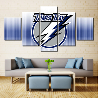5 Piece Tampa Bay Lightning Team Ice Hockey Canvas - It Make Your Day