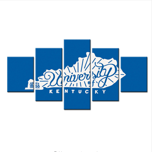 5 Piece University Of Kentucky East 1865 Basketball Canvas - It Make Your Day