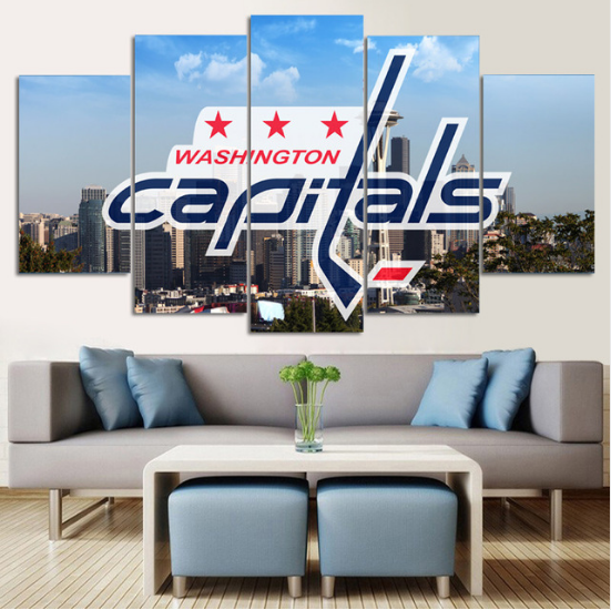 5 Piece Washington Capitals 6 Hockey Canvas Paintings - It Make Your Day
