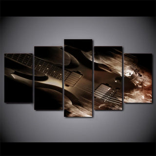 5 Piece Abstract Classical Guitar Canvas Wall Art Sets - It Make Your Day