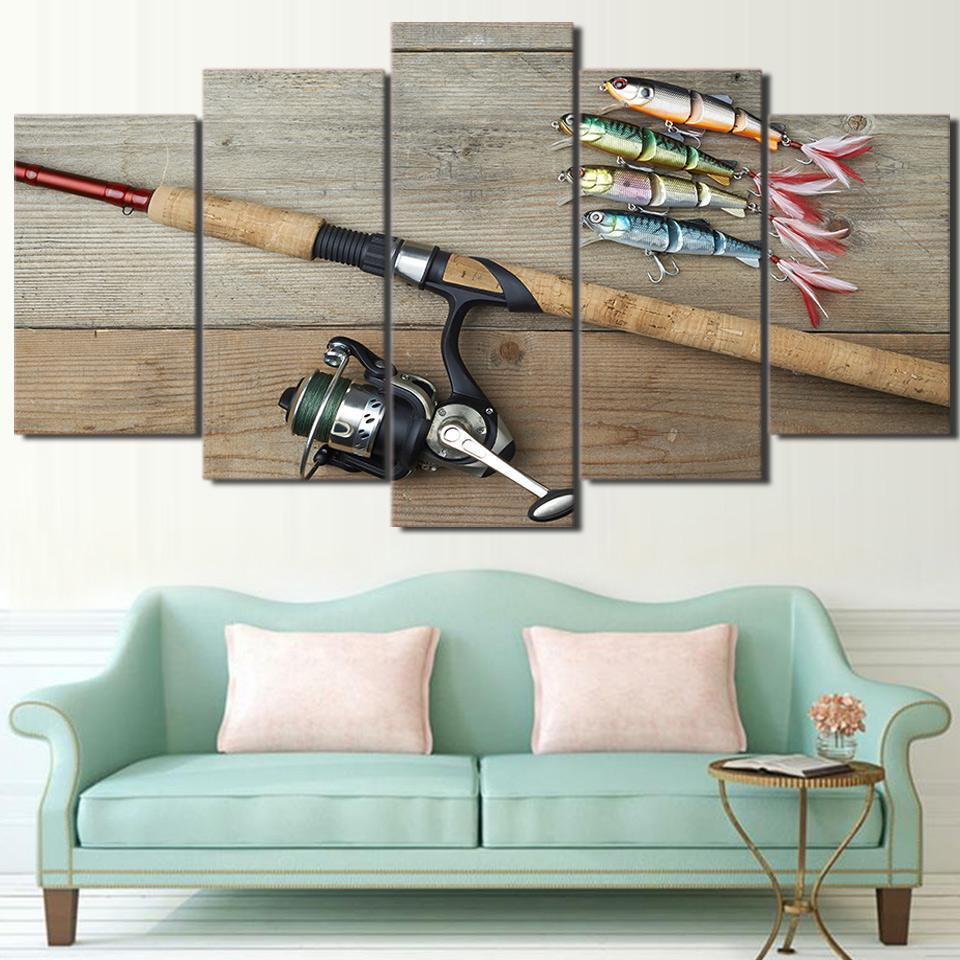 Artistic Fishing Hooks And A Rod - It Make Your Day