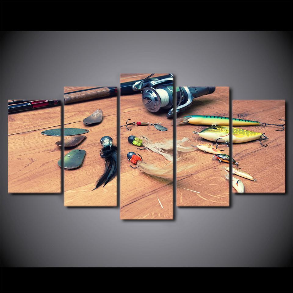 Creative Fishing Hooks and a Fishing Reel - It Make Your Day