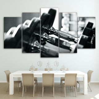 5 Piece Dumbbells Bodybuilding Equipment Canvas Wall Art Paintings - It Make Your Day