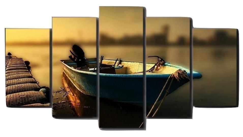 5 Piece Fishing Boat Canvas Wall Art Paintings - It Make Your Day