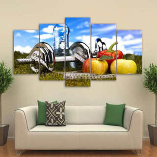 5 Piece Fitness Requirements Canvas Wall Art Paintings - It Make Your Day