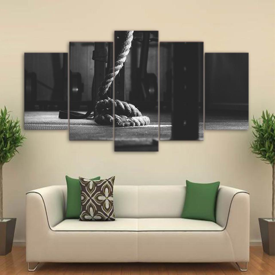 5 Piece Gym After Hours Canvas Wall Art Paintings - It Make Your Day