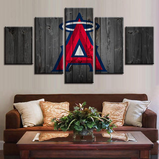 5 Piece Los Angeles Angels Baseball Canvas Wall Art Paintings Sets - It Make Your Day