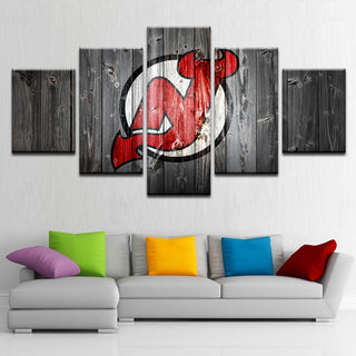 5 Piece New Jersey Devils 8 Hockey Canvas - It Make Your Day
