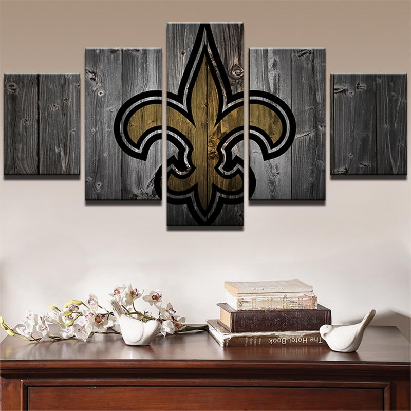 5 Piece New Orleans Saints American Football Canvas - It Make Your Day
