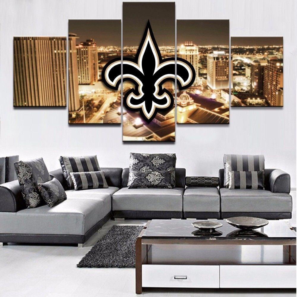 5 Piece New Orleans Saints City Football Canvas Paintings - It Make Your Day